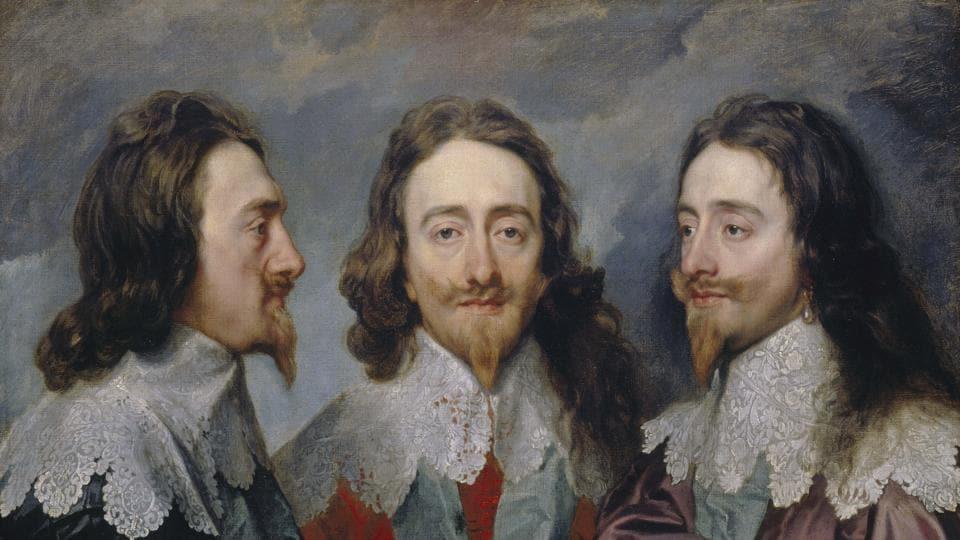 """Charles I in Three Positions"" by Anthony van Dyck, (c.1635-6)"