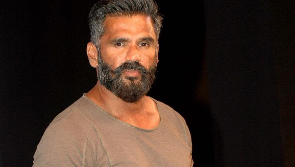 Suniel Shetty during the launch of Tata Sky Acting Adda in Mumbai.