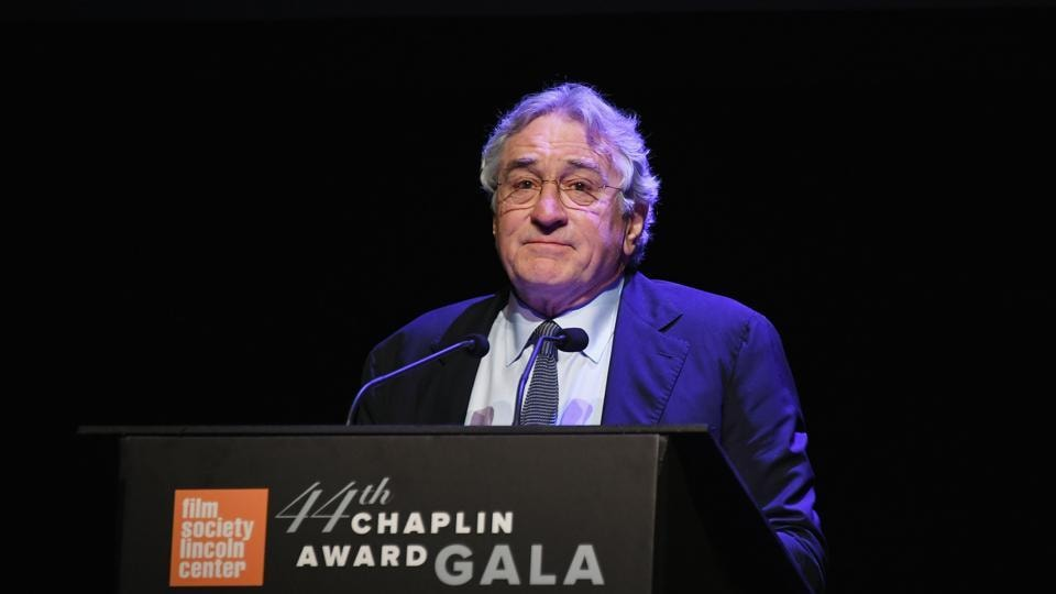 Honoree Robert De Niro speaks onstage during the 44th Chaplin Award Gala at David H. Koch Theater at Lincoln Center on May 8, 2017 in New York City.
