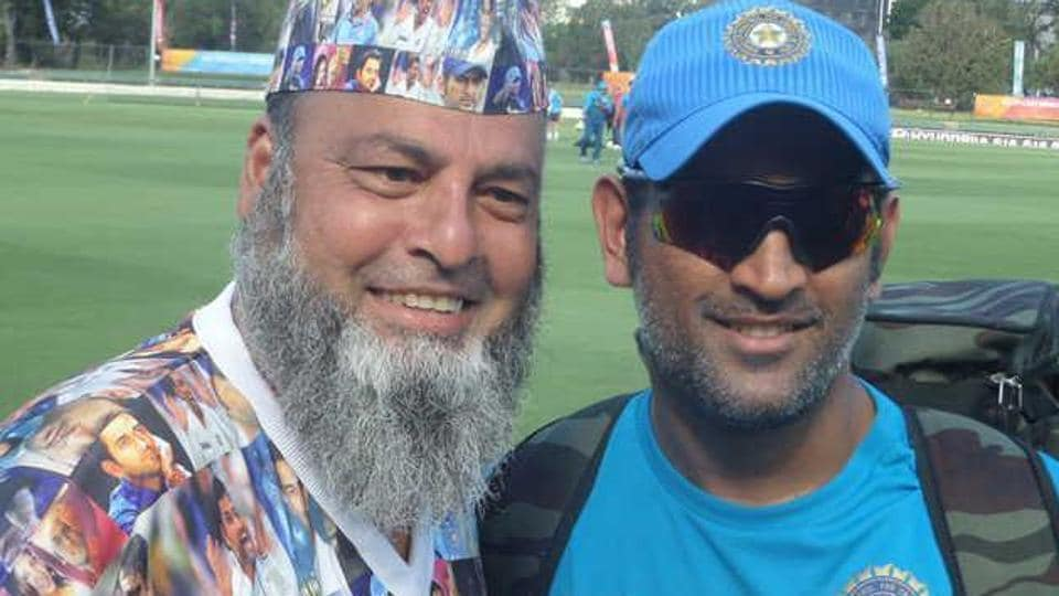 Mohammad Bashir a.k.a Chacha Chicago is a big fan of former India skipper MS Dhoni, who had gifted Bashir a signed cricket bat once.