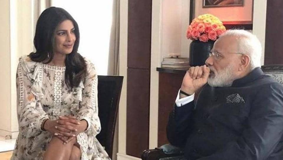 Priyanka Chopra posted this photo from the meeting.
