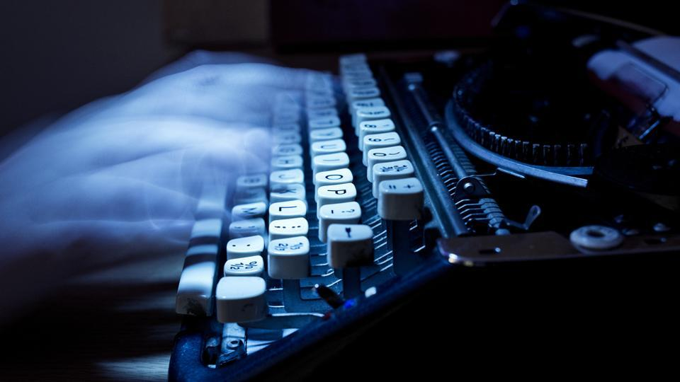 A ghostwriter is an anonymous figure, who, by contract, agrees to write a given book for somebody else.