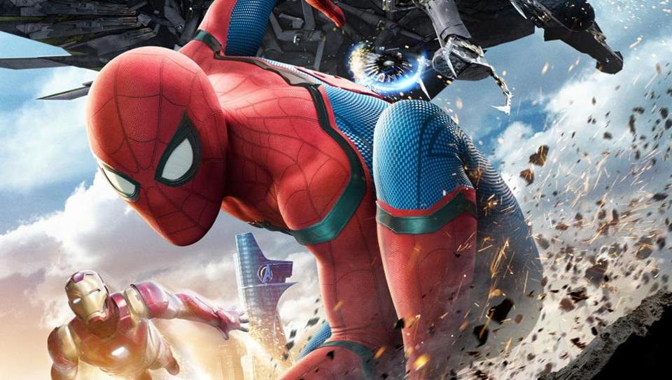 A poster from the upcoming film, Spider-Man: Homecoming.