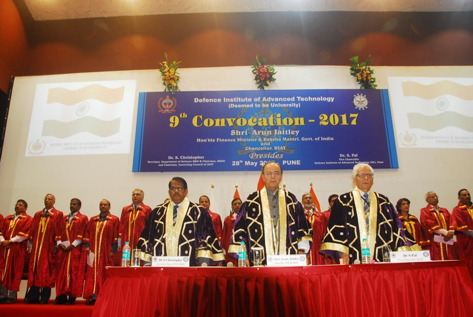 The 9th Convocation of Defence Institute of Advanced Technology (DIAT) at Girinagar, near Pune.