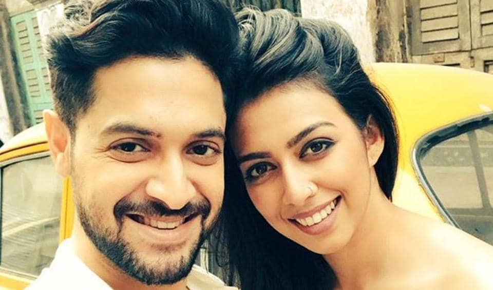 Actor Vikram Chatterjee in happier times with model and television anchor Sonika Chauhan. On April 29, Vikram crashed his car in  Kolkata which led to Sonika's death.