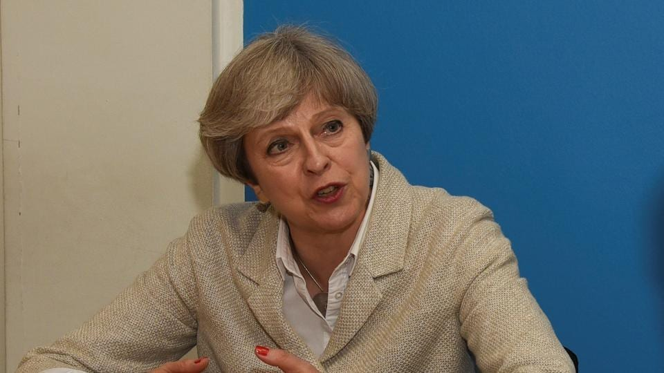 British Prime Minister Theresa May talking to Hindustan Times on Monday.