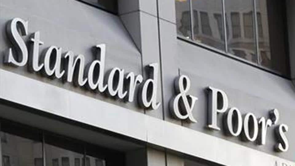 Ratings agency Standard & Poors' building is seen in New York.