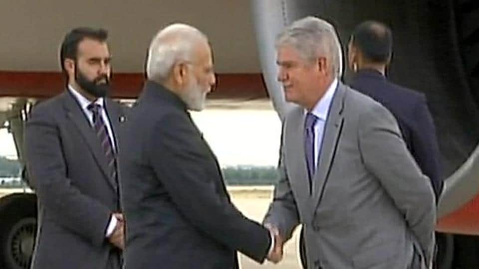 Prime Minister Narendra Modi lands in Madrid, Spain on Tuesday night.