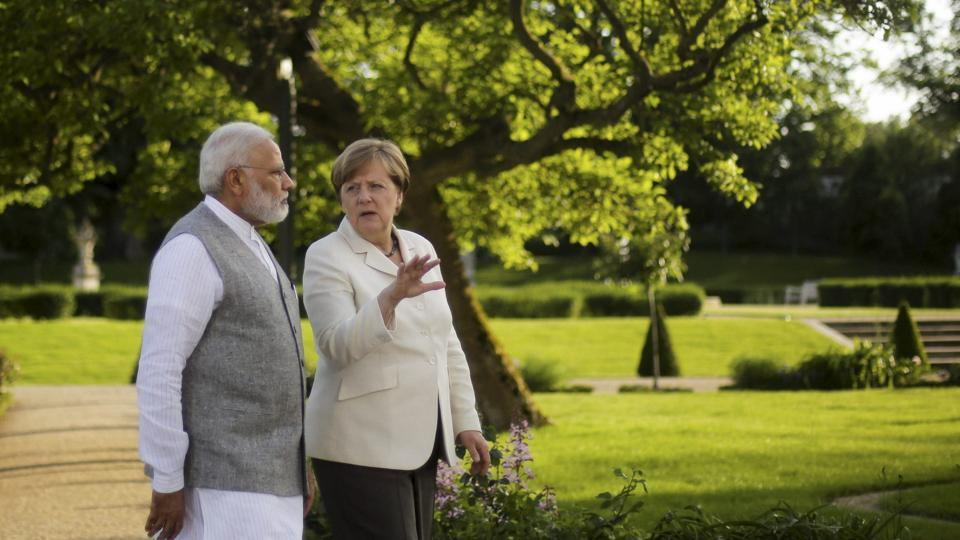 Narendra Modi,Modi four-nation tour,Angela Merkel