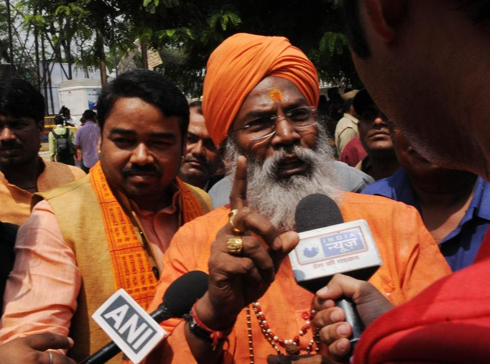 A file picture of BJP MP Sakshi Maharaj.