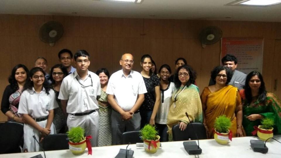 BN Singh, district magistrate of Gautam Budh Nagar, felicitated Raksha, Johana Ravindran of Somerville School, Aasra Khan of Amity International School, Faraz Rahman Mallik and Rhea Bhatia of Delhi Public School in his office.