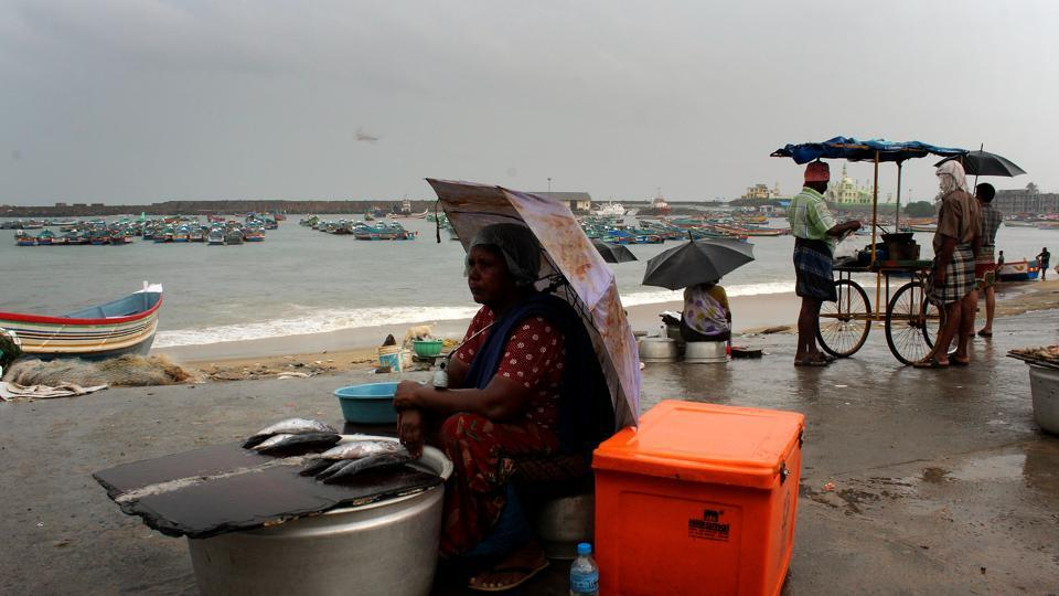 The India Meteorological Department declares the arrival of monsoon rains only after parameters measuring consistency of rainfall over a defined geography, intensity, cloudiness and wind speed are satisfied.  (Vivek Nair/HT Photo)