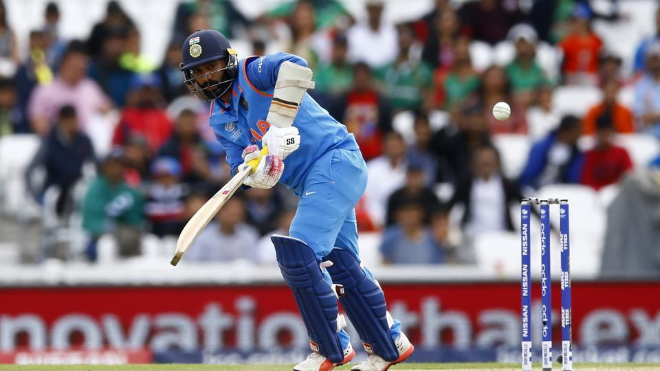 Dhawan found support in the form of Dinesh Karthik as the pair revived India. (REUTERS)