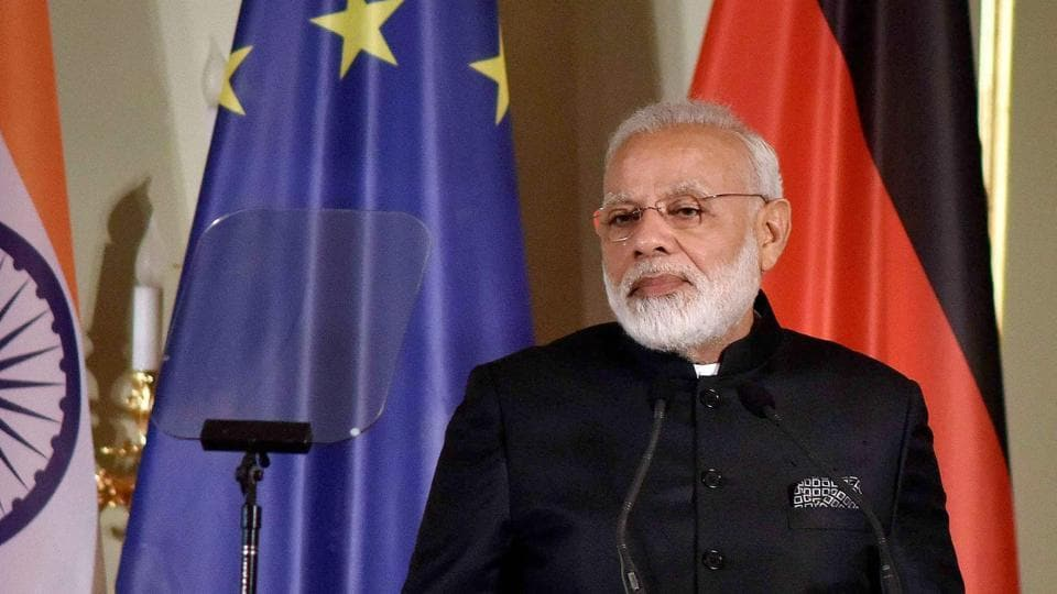 Prime Minister Narendra Modi addresses the Indo-German Business Summit – 2017, jointly organised by APA, CII & FICCI, in Berlin, Germany on Tuesday.