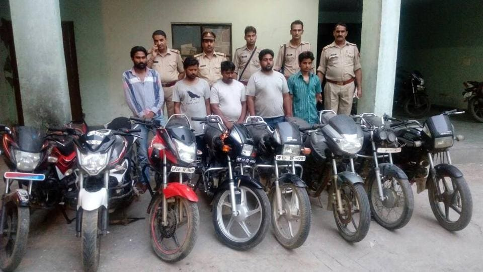 Badalpur police team arrested the five persons near Chapraula police chowki after conducting a thorough checking of vehicles passing through the check post.