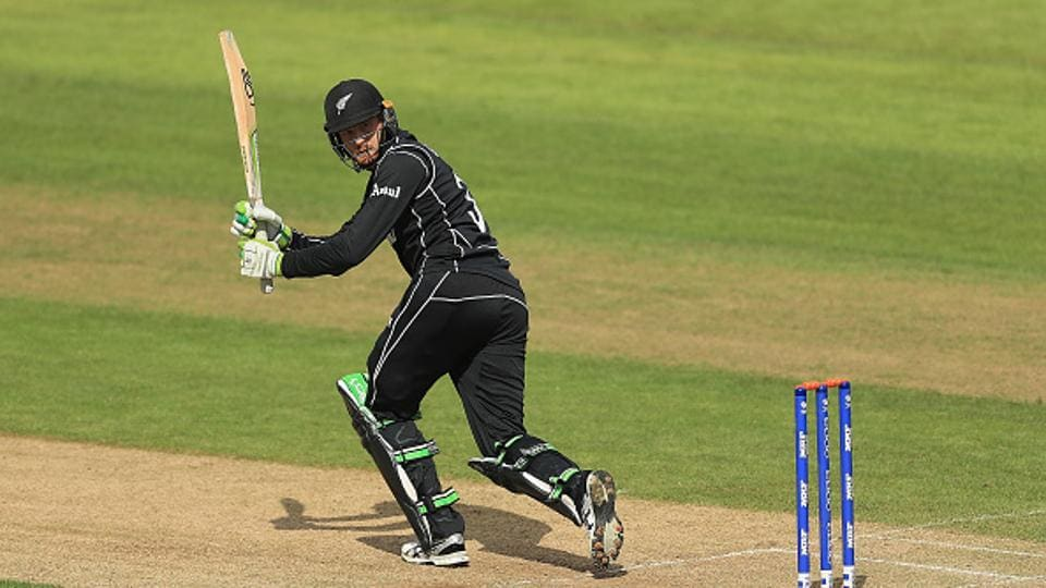Martin Guptill edges the ball towards the boundary during the ICC Champions Trophy Warm-up match between New Zealand and Sri Lanka at Edgbaston. Get full cricket score of Sri Lanka vs New Zealand here.