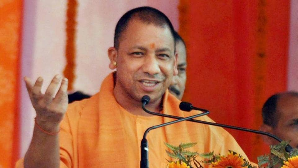 UP Chief Minister Yogi Adityanath at a function in Moradabad on Sunday.