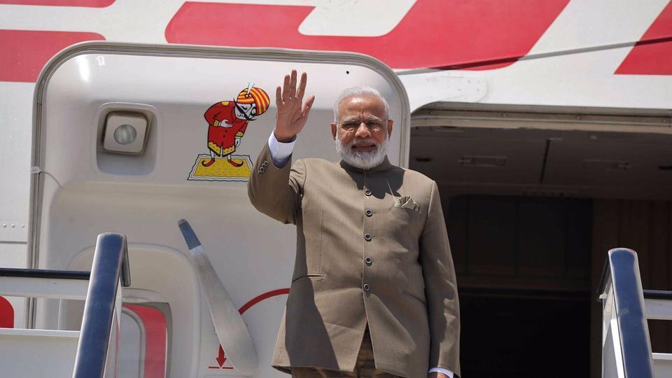 Prime Minister Narendra Modi departs for St Petersburg, Russia from Madrid on Wednesday.