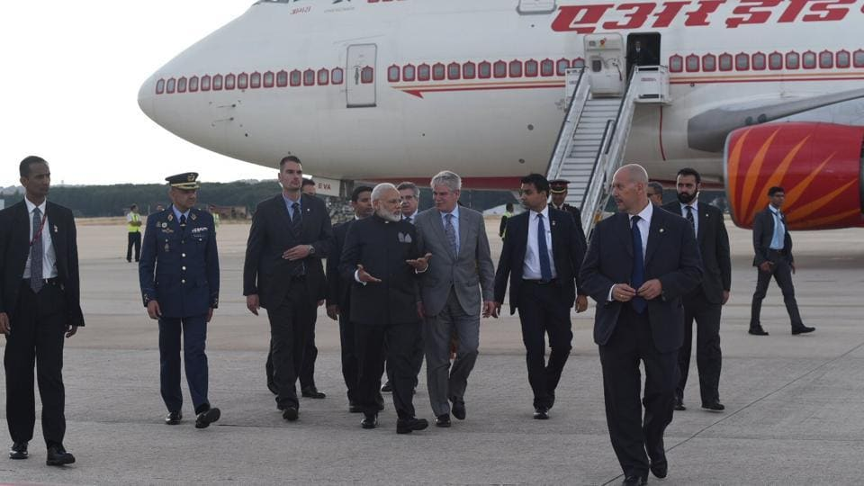 Prime Minister Narendra Modi lands in Madrid on Tuesday.