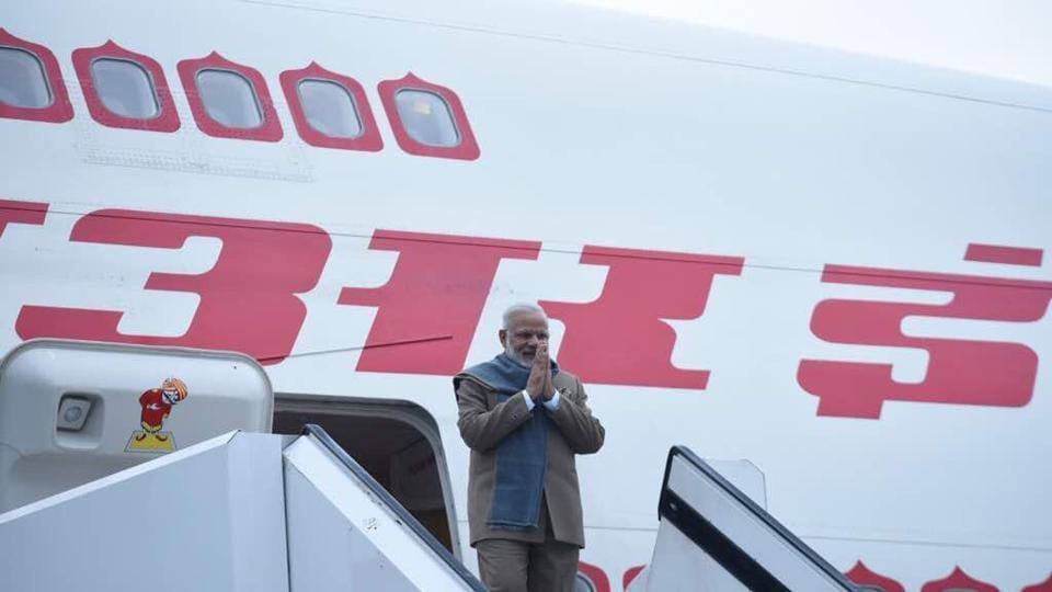 Prime Minister Narednra Modi  arrived inSt.Petersburg,Russia.