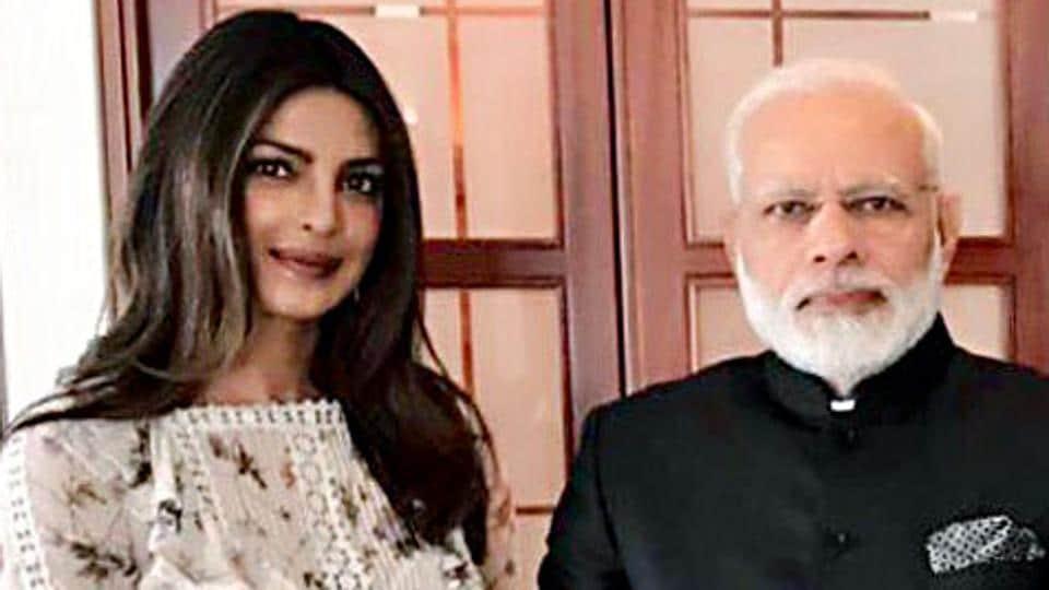Actor Priyanka Chopra met Indian Prime Minister Narendra Modi in Berlin.