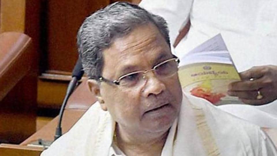 Karnataka chief minister K Siddaramaiah.