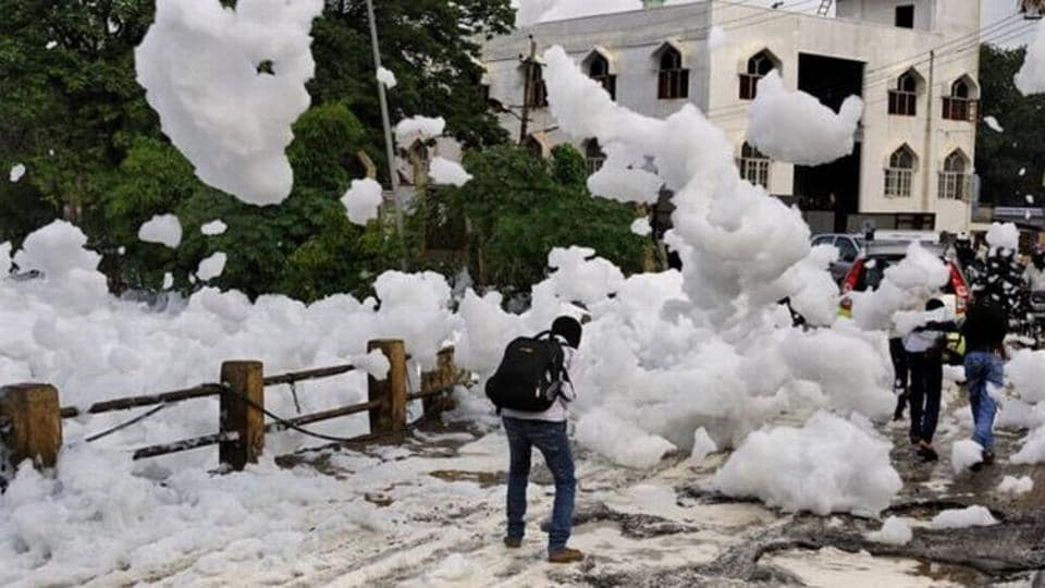 The National Green Tribunal on Wednesday took Karnataka government and its civic authorities to task over foam spilling over into the streets in Bengaluru near the Varthur lake, causing massive traffic jams in the city.