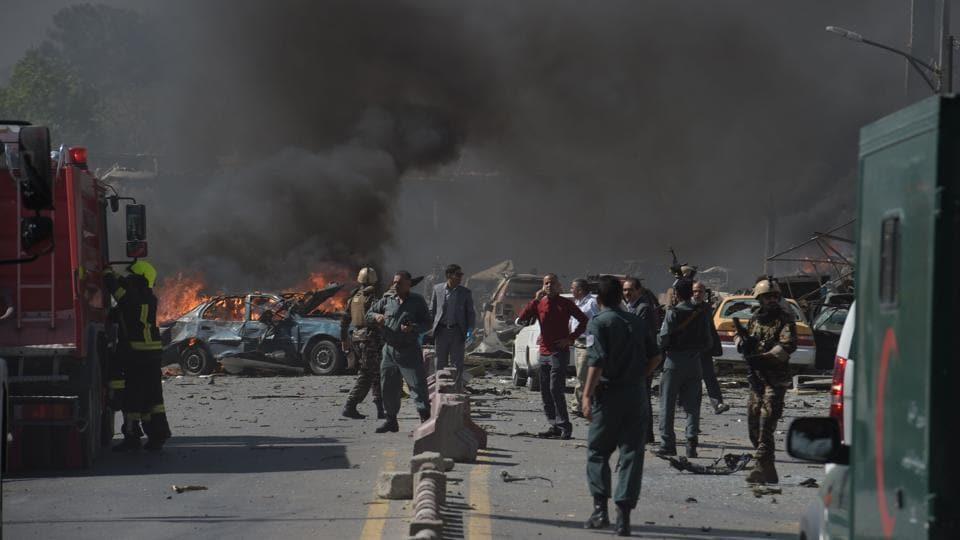 'A car bomb' exploded at 8:25 am, Najib Danish, an interior ministry spokesperson, told AFP. (SHAH MARAI / AFP)