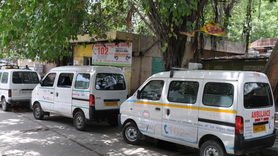 ambulances,government hospital,Gurgaon