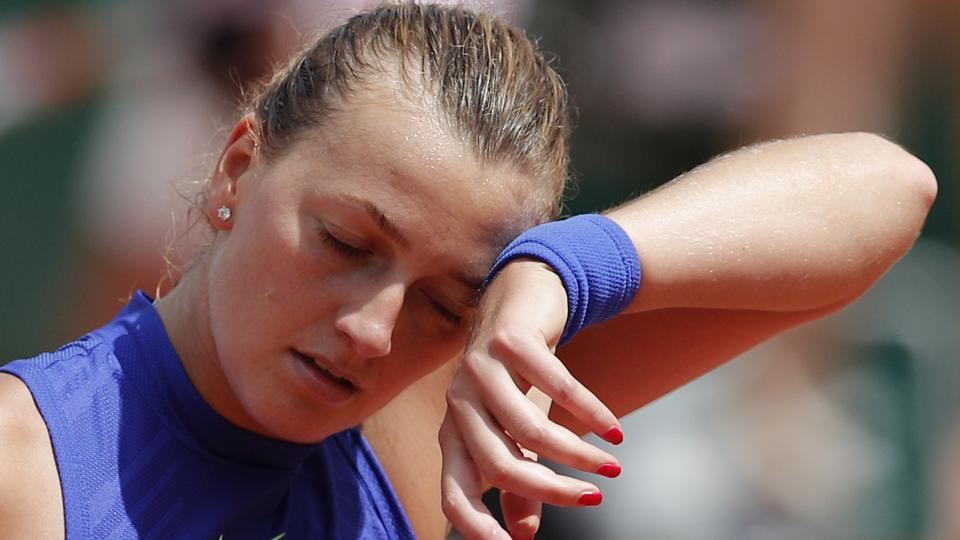 Petra Kvitova of the Czech Republic lost in two sets to USA's  Bethanie Mattek-Sands. (AP)