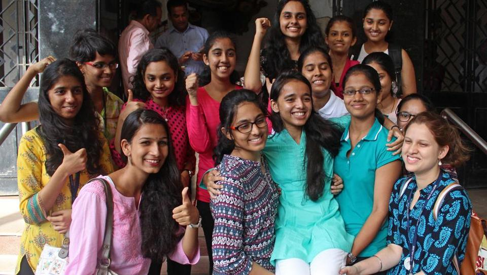 Students of Ramnarain Ruia College, Dadar, were happy with their result.