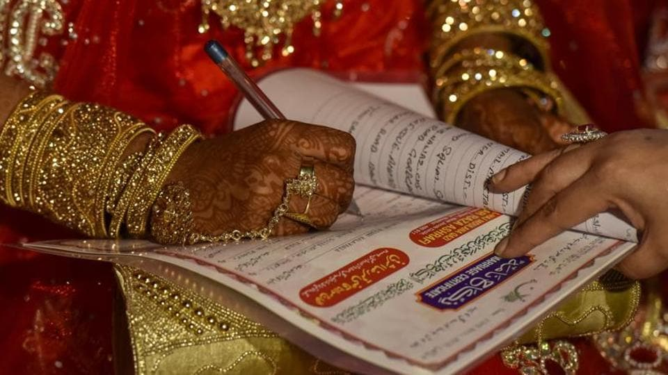 The nikah-nama as a document in itself is often not read by the bride. Under the weight of heavy bridal wear and bridal behaviour under the watchful eyes of hovering wedding guests, the details of a nikah-nama are often not bothered with.