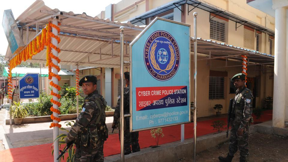 A cyber-crime police station in Ranchi.  Cyber crime is one of the domains that police officers could specialise in.