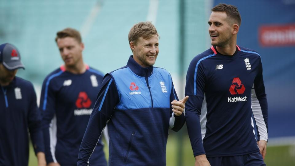 Britain Cricket - England Nets - The Oval - 31/5/17 England's Joe Root and Alex Hales during nets Action Images via Reuters / Paul Childs Livepic (REUTERS)