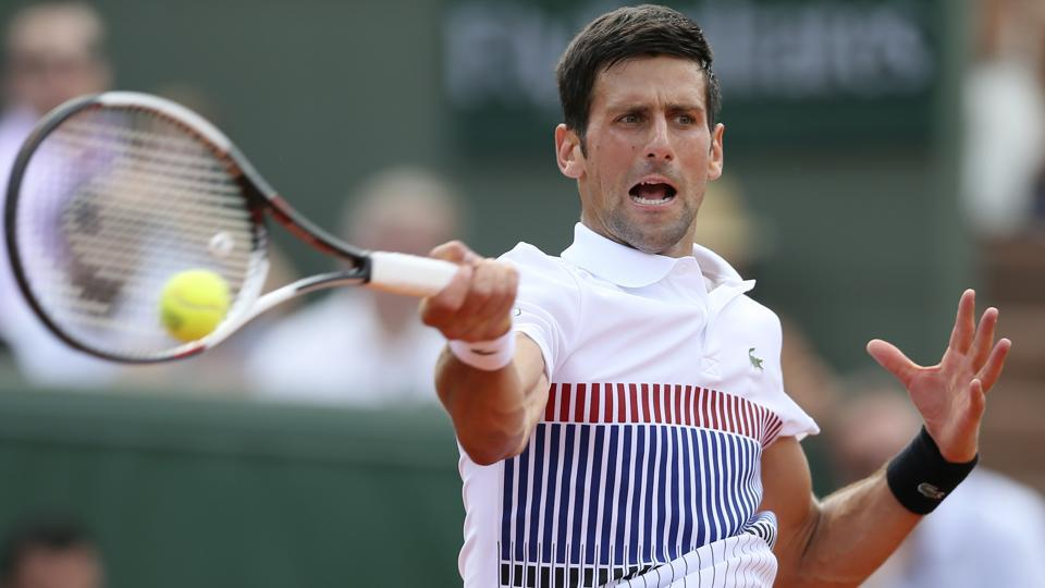 Men's singles defending champion Novak Djokovic defeated Portugal's Joao Sousa 6-1, 6-4, 6-3 in their second round match on Wednesday. (AP)