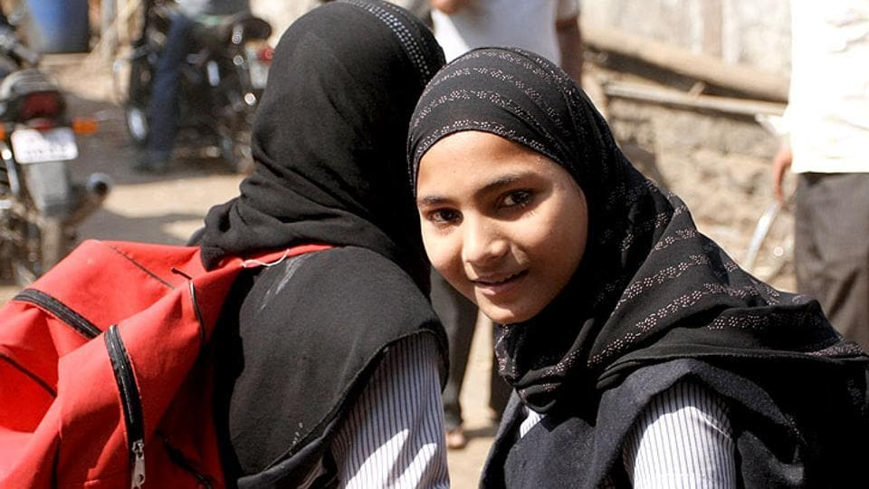 File photo of schoolgirls in Mumbai, India. The only way of empowerment of Muslims is to increase their capabilities educationally, economically and socially.