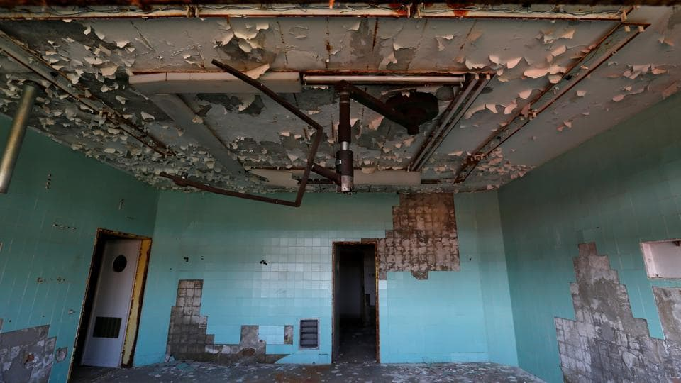 Soldiers wounded in Afghanistan were among those treated here. The  17 acre complex lies derelict with  its walls crumbling, its floors torn up and its windows broken. (Laszlo Balogh/REUTERS)