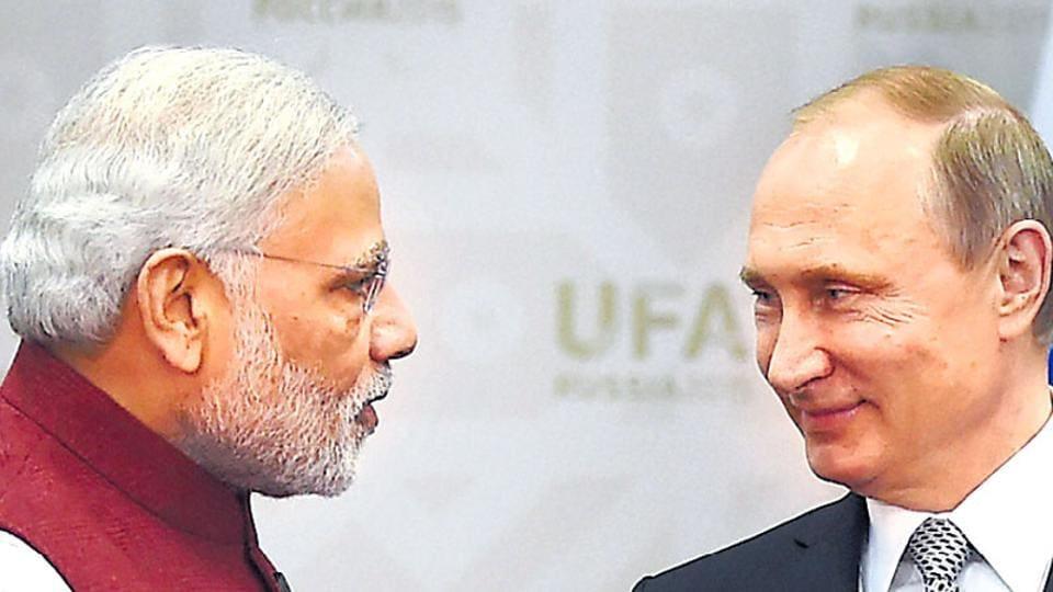 Prime Minister Narendra Modi with Russian President Vladimir Putin in Ufa, Russia. (File Photo)