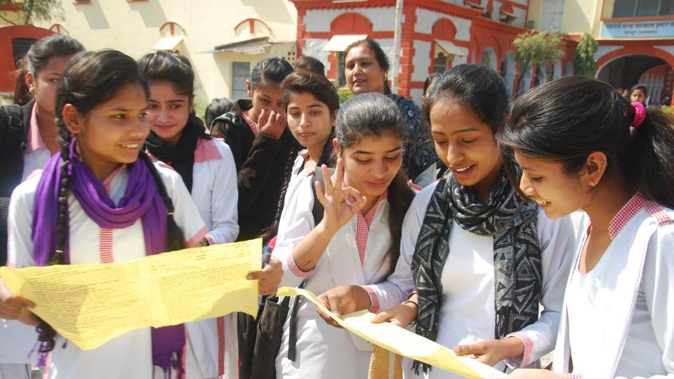 HT FILE PHOTO - Dehradun, India - Jan 09 :: Students coming out after appearing their first Uttarakhand 12th Board exam at MKP Inter College in Dehradun, India, on Thursday, March 03, 2016. (Photo by Vinay Santosh Kumar/Hindustan Times)