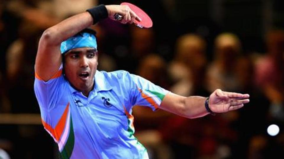 Sharath Kamal of India defeated Ukraine's Kou Lei in straight games, 11-3, 11-9, 14-12, 11-3, to reach the Round of 32.
