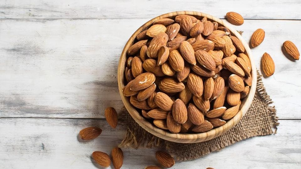 Almonds are rich in anti-oxidants and have zero cholesterol.