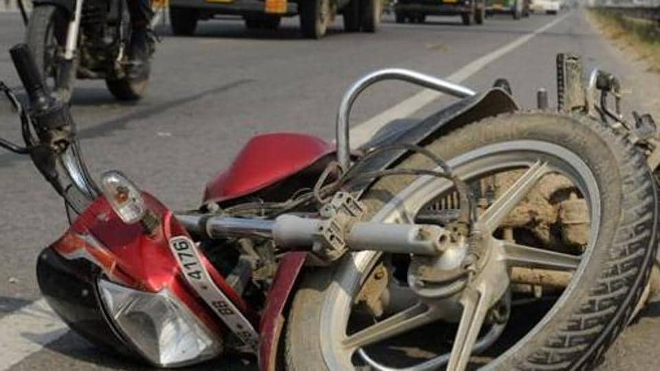 road crash,biker killed,Moga