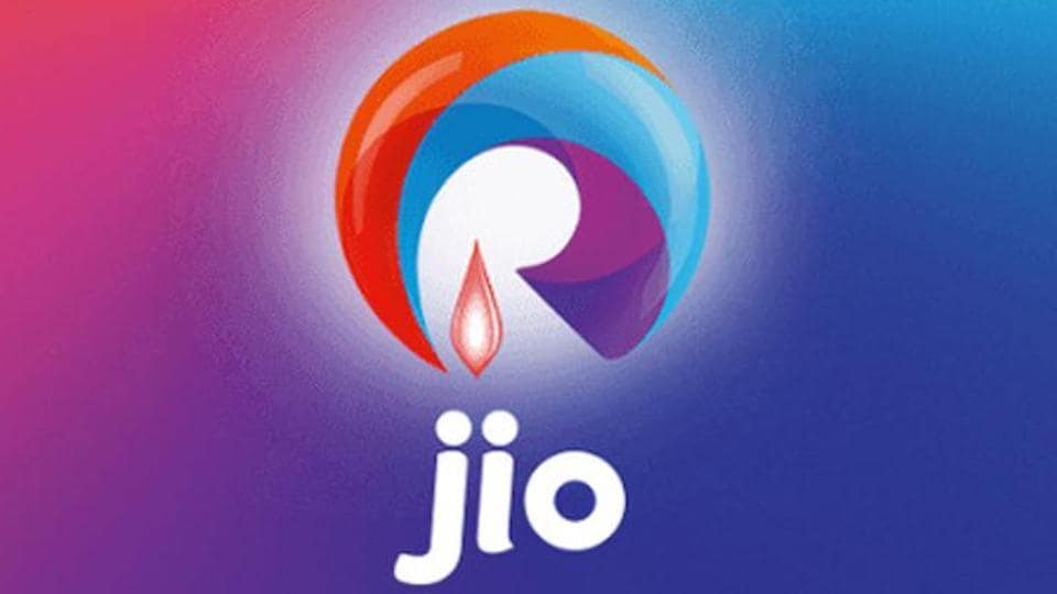 Reliance Jio logo on display.