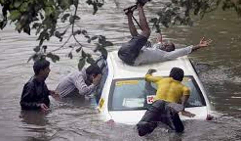 A file photo of a waterlogged street in Mumbai.