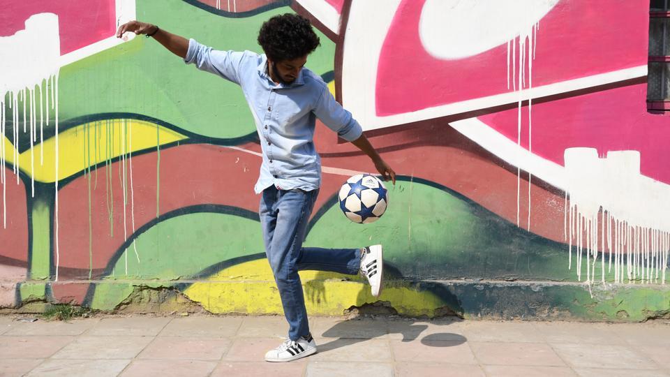 Nikhil Krishna aka Nikk Freestyler is a freestyle footballer who aims to popularise the art  in the country.