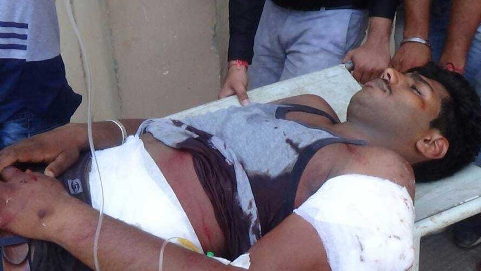 Shivam was shifted to a Delhi hospital after being stabbed by cow vigilantes in Gohana, Haryana.