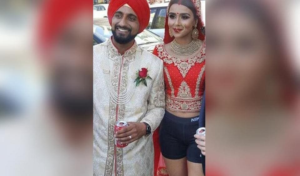 A bride who ditched the lehenga