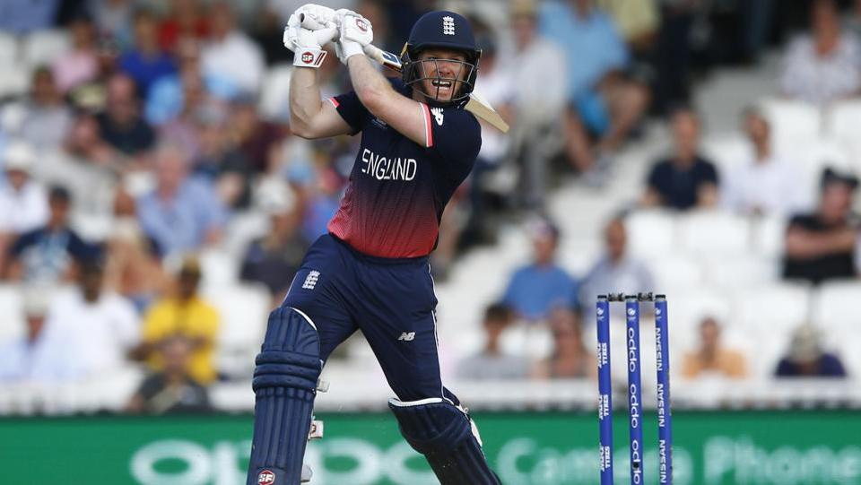 England's Eoin Morgan played a 61-ball 75* and was involved in a 143* run stand with Root. (REUTERS)