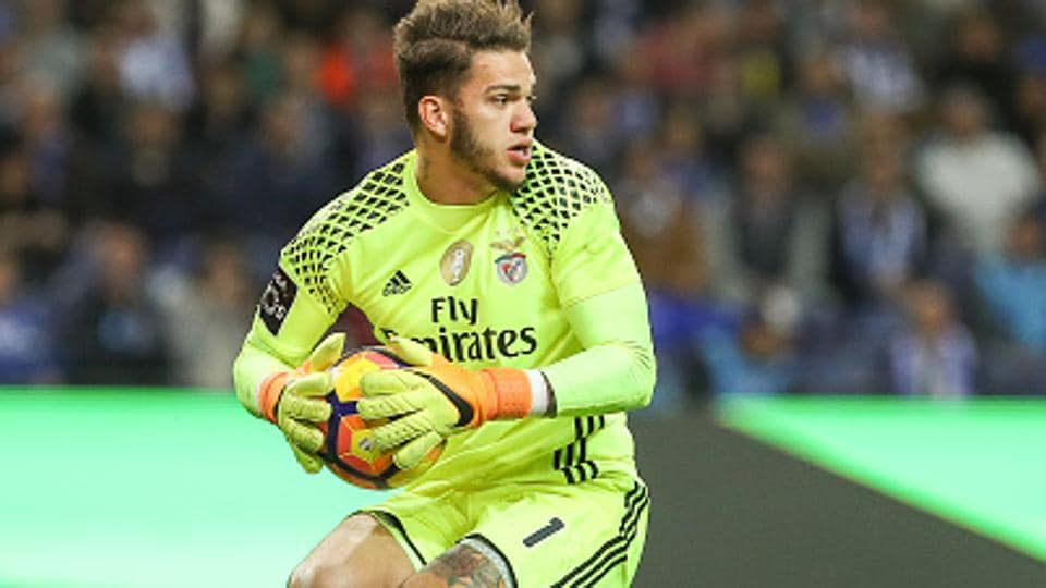 SL Benfica's Ederson Moraes is the newest addition to the Manchester City team.