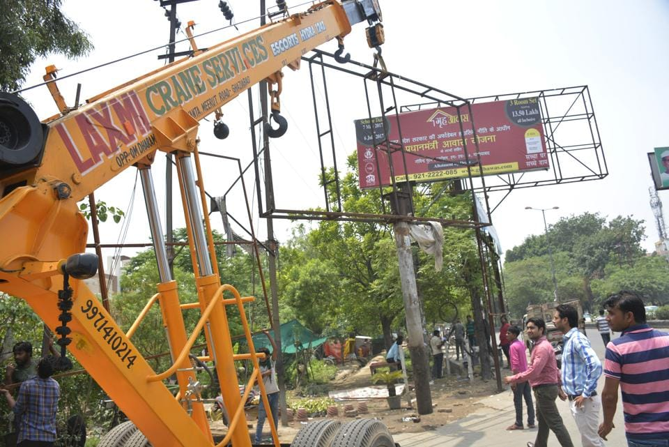 As part of another another drive, the authority, on Thursday also demolished major encroachment on a green belt of nearly 3km from Hapur Chungi to Vivekanand Nagar.